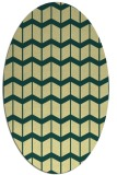rug #1014057 | oval yellow gradient rug