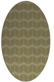rug #1014065 | oval light-green rug