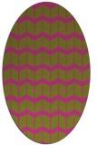 rug #1014069 | oval light-green popular rug
