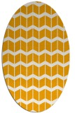 rug #1014077 | oval light-orange gradient rug