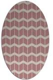 rug #1014081 | oval pink gradient rug