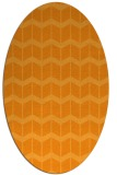 rug #1014085 | oval light-orange gradient rug
