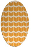rug #1014089 | oval light-orange gradient rug