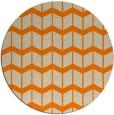 rug #1014457 | round orange gradient rug