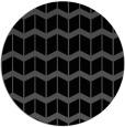 rug #1014465 | round black gradient rug