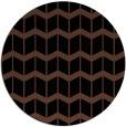rug #1014473 | round black gradient rug