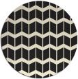 rug #1014481 | round black gradient rug