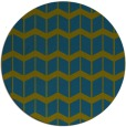 rug #1014537 | round blue-green gradient rug