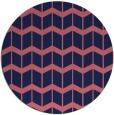 rug #1014553 | round pink rug