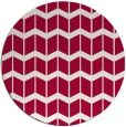 rug #1014577 | round red natural rug