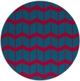 rug #1014581 | round blue-green gradient rug