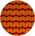 rug #1014657 | round red-orange gradient rug