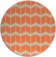 rug #1014665 | round orange gradient rug