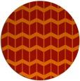 rug #1014709 | round orange gradient rug