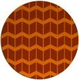 rug #1014721 | round red-orange gradient rug