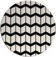 rug #1014741 | round black gradient rug