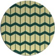 rug #1014785 | round blue-green gradient rug