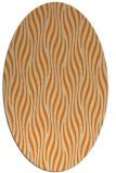 rug #1015549 | oval orange rug