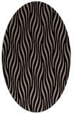 rug #1015561 | oval beige animal rug