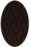 rug #1015565   oval brown stripes rug