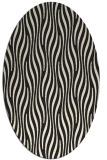 rug #1015573   oval black animal rug