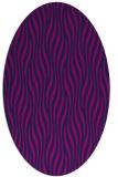 rug #1015585 | oval blue animal rug