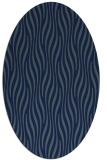 rug #1015589 | oval blue animal rug