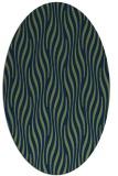 rug #1015593 | oval blue animal rug