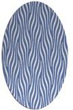 rug #1015597 | oval blue animal rug