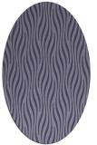 rug #1015641 | oval blue-violet animal rug