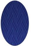 rug #1015653 | oval blue-violet animal rug