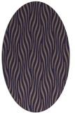 rug #1015657   oval blue-violet animal rug