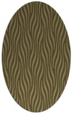 rug #1015665 | oval brown stripes rug