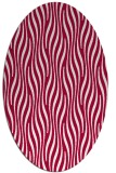 rug #1015669 | oval red stripes rug