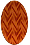 rug #1015749 | oval red-orange stripes rug