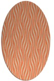 rug #1015757 | oval orange animal rug