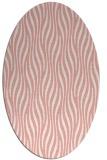 rug #1015777 | oval white stripes rug