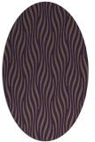 rug #1015789 | oval purple animal rug