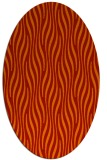 rug #1015801 | oval red stripes rug
