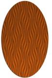 rug #1015821 | oval red-orange stripes rug