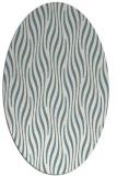 rug #1015853 | oval white stripes rug