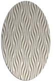 rug #1015857 | oval white stripes rug