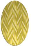 rug #1015869 | oval yellow animal rug