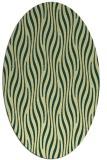 rug #1015877 | oval yellow stripes rug