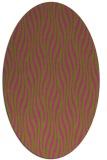 rug #1015889 | oval pink animal rug