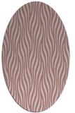 rug #1015901 | oval pink animal rug
