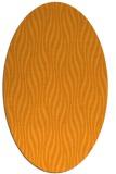 rug #1015905 | oval light-orange animal rug