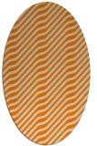 rug #1017369 | oval beige animal rug