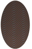 rug #1017379 | oval stripes rug