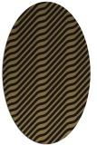 rug #1017397 | oval brown rug